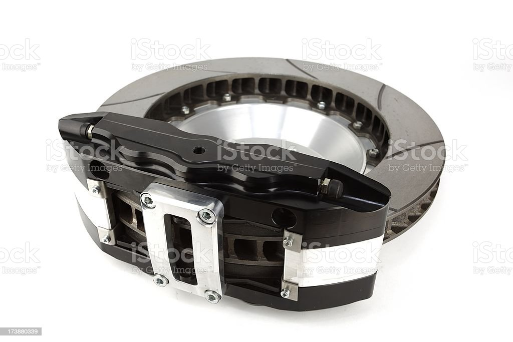 Brake rotor and caliper. royalty-free stock photo