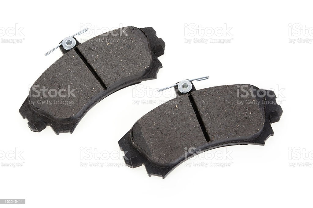 Brake shoes on a white background royalty-free stock photo