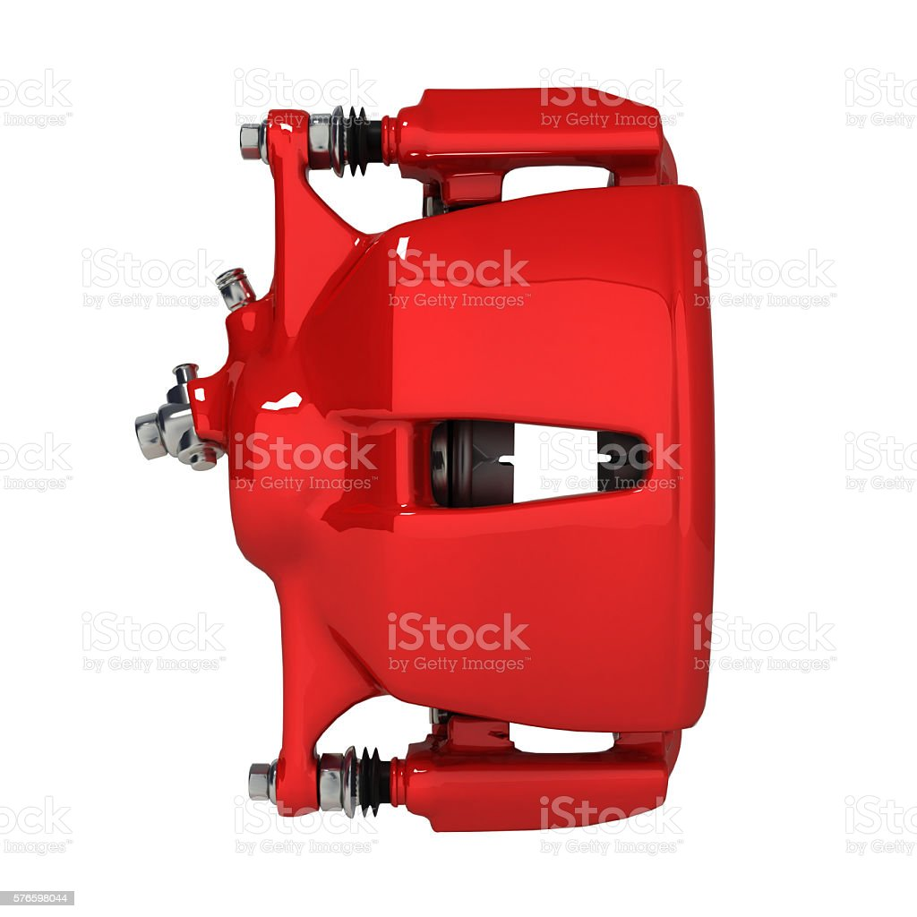 brake support isolated on white background 3d stock photo