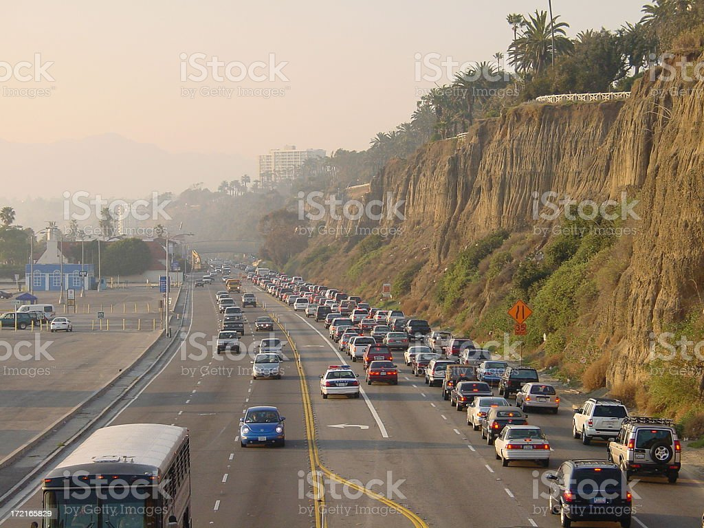 Brakelights on PCH royalty-free stock photo