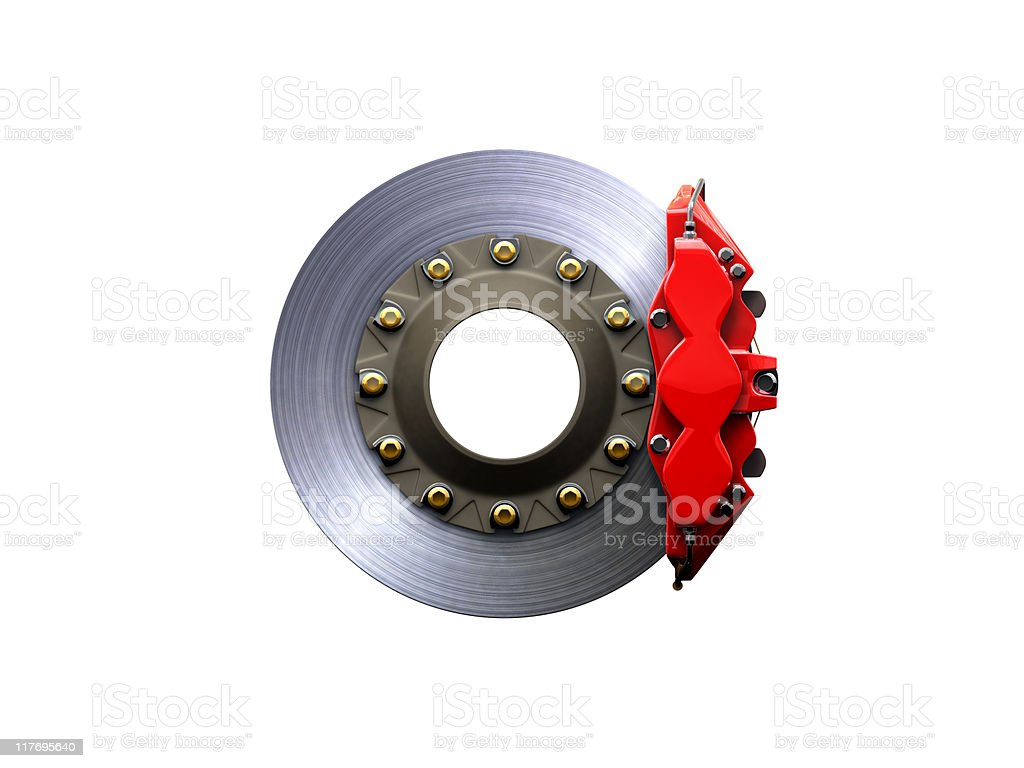 Brakesystem on white background stock photo