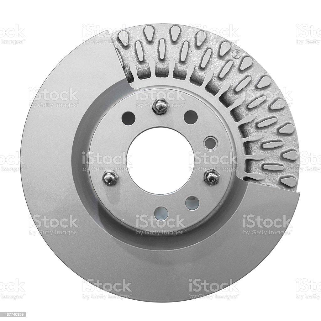 Brakesystem on white background stock photo
