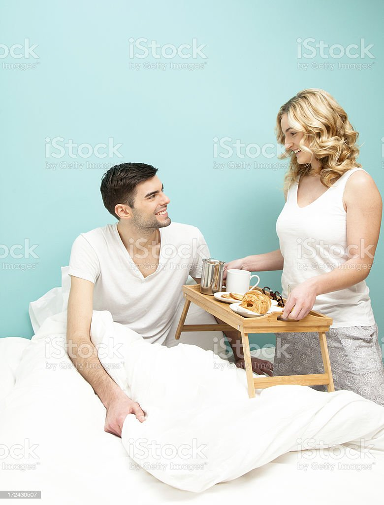Brakfast in bed royalty-free stock photo