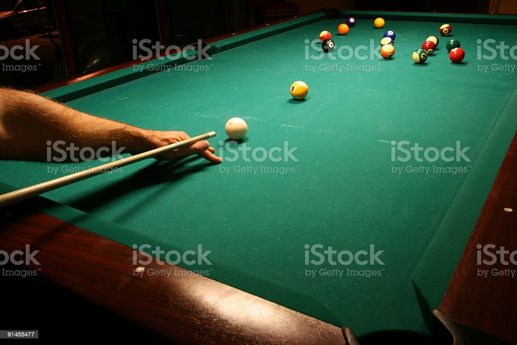 Braking balls stock photo