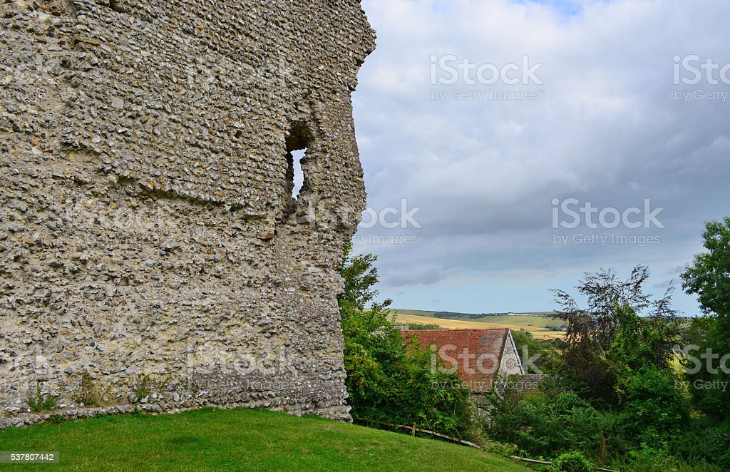 Bramber Castle Stone Wall stock photo