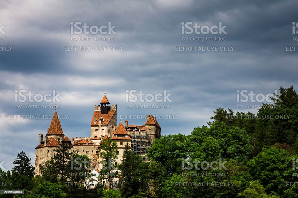 Bran Castle, Bran, in Transylvania, Romania stock photo