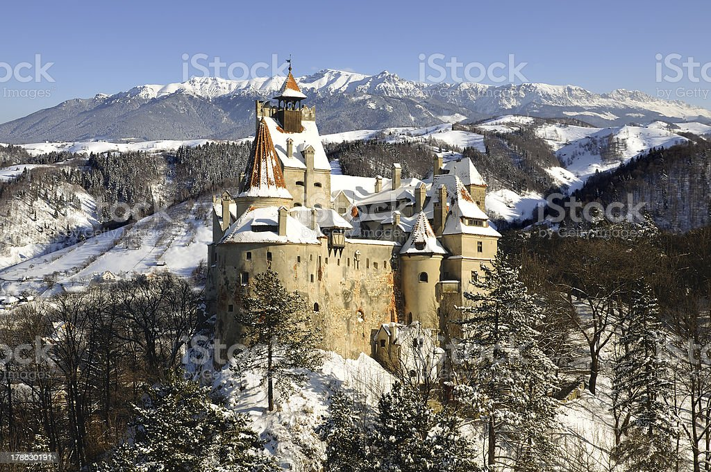 Bran (Dracula's) Castle from Transylvania, Romania stock photo