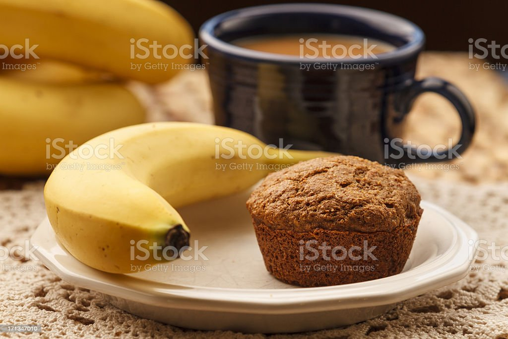 Bran Muffin and Coffee royalty-free stock photo