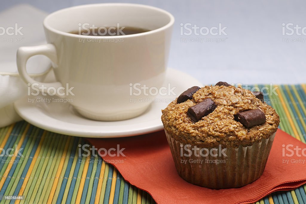 Bran Muffin with Coffee stock photo