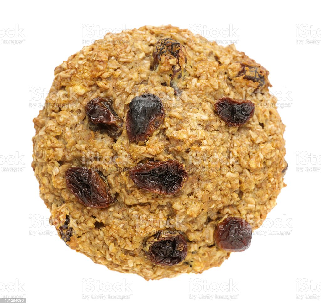 Bran Muffin with Raisins stock photo