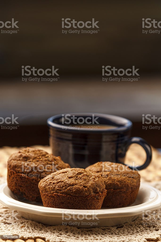 Bran Muffins and Coffee royalty-free stock photo