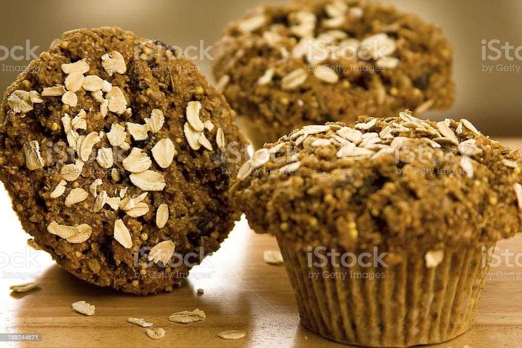 Bran Muffins stock photo