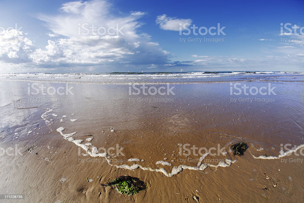Brancaster Beach, Norfolk, England royalty-free stock photo