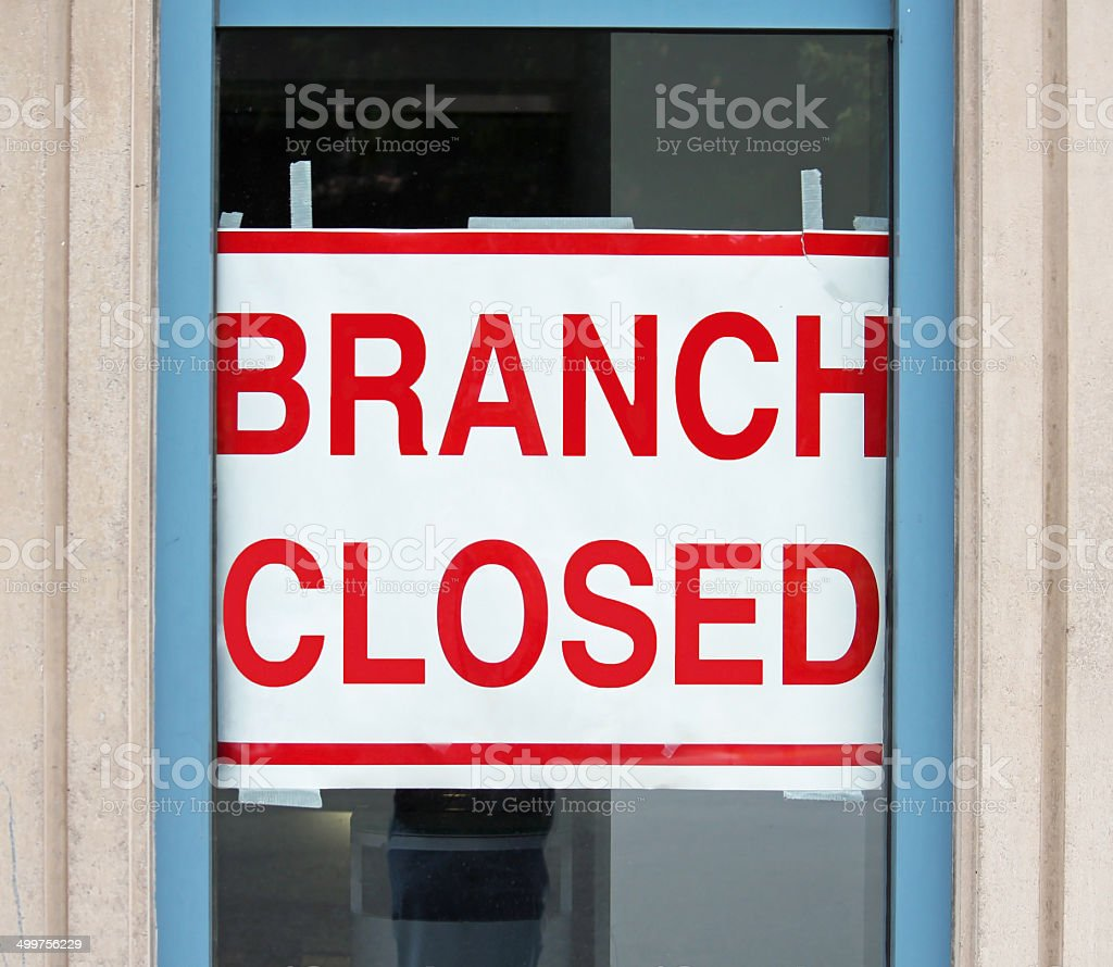 Branch Closed stock photo