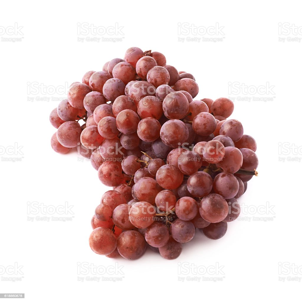 Branch of the dark grape isolated stock photo