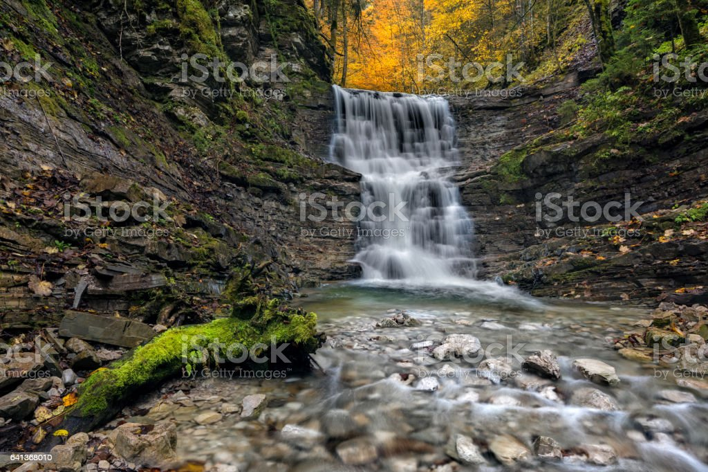 Branch of the Taugl river stock photo