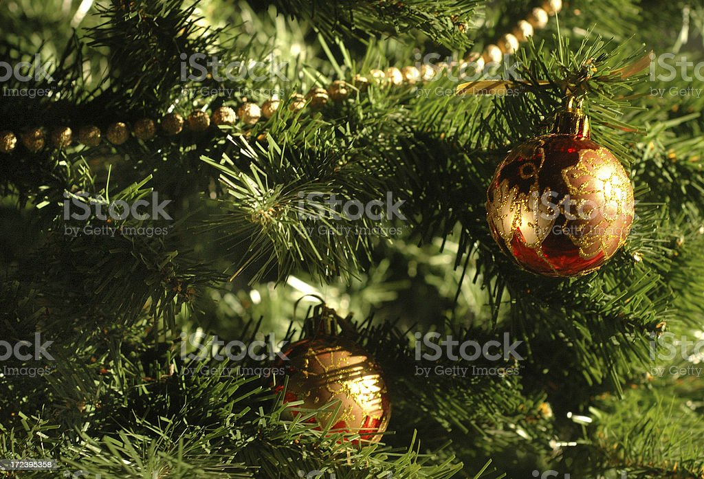 Branches and baubles royalty-free stock photo