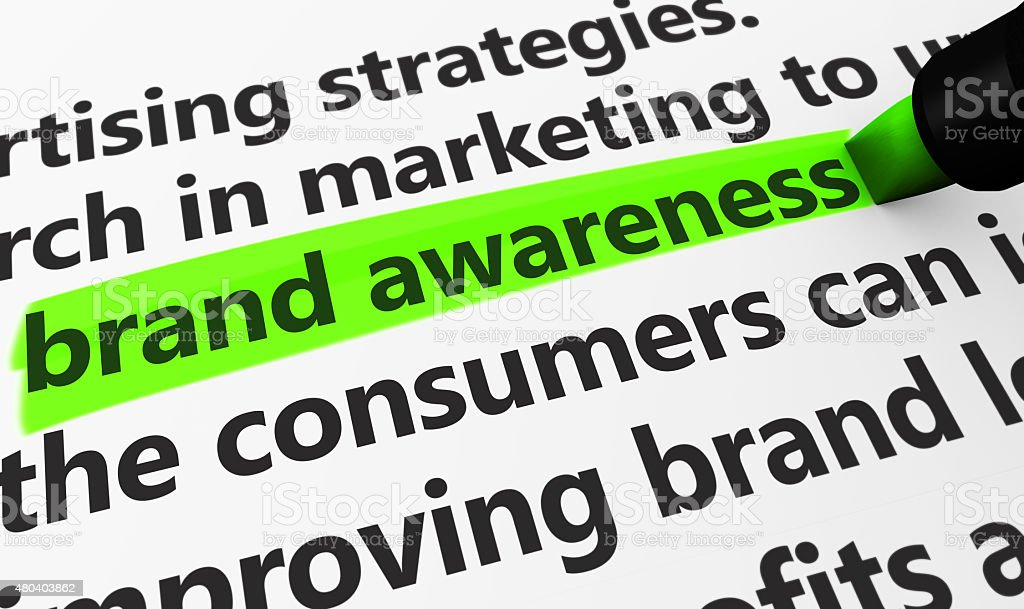 Brand Awareness Marketing Concept stock photo