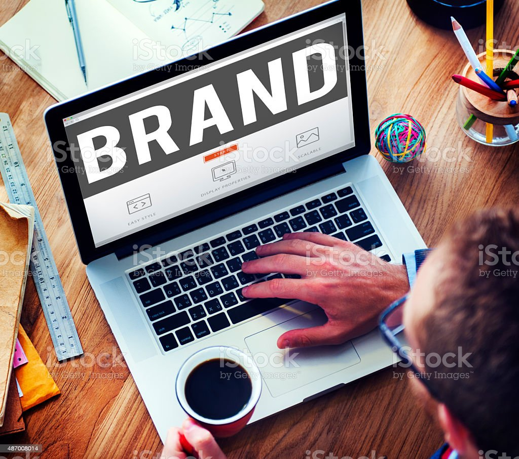 Brand Branding Copyright Trademark Marketing Concept stock photo