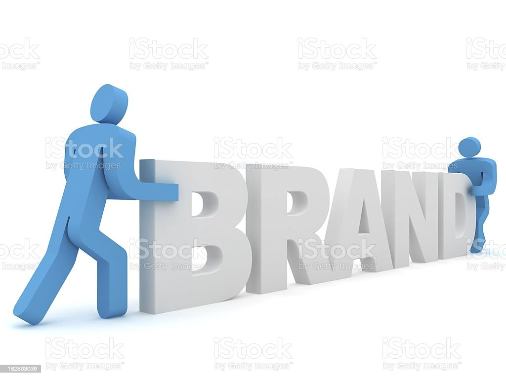 Brand Building royalty-free stock photo