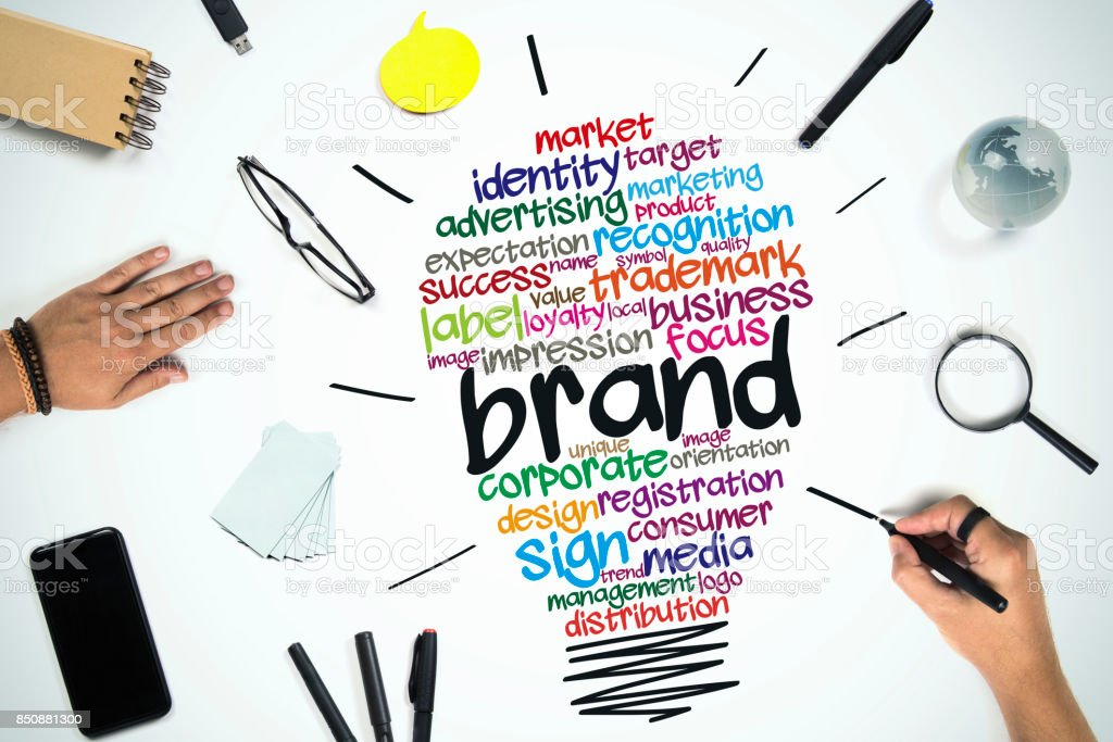 Brand Business concept stock photo