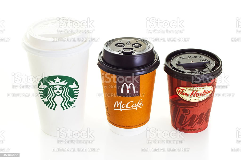 Brand Coffee Cups royalty-free stock photo