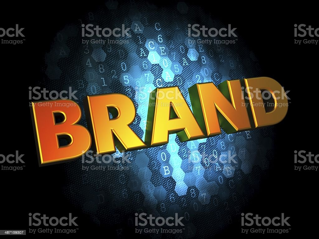 Brand Concept on Digital Background. stock photo