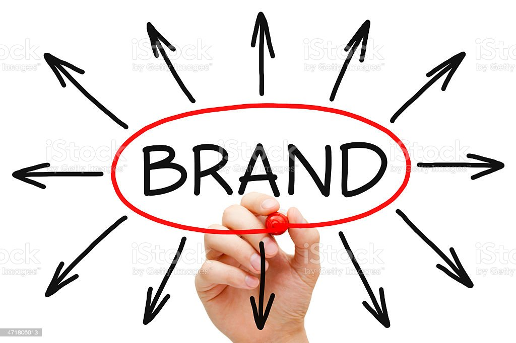 Brand Concept Red Marker royalty-free stock photo