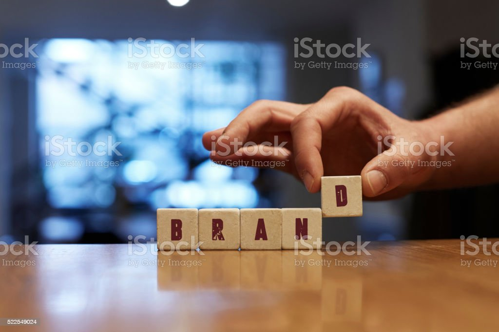 Brand Concept with Alphabet Blocks stock photo