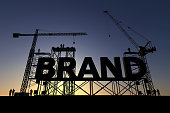 Brand construction site