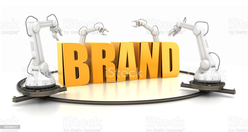 Brand creating royalty-free stock photo