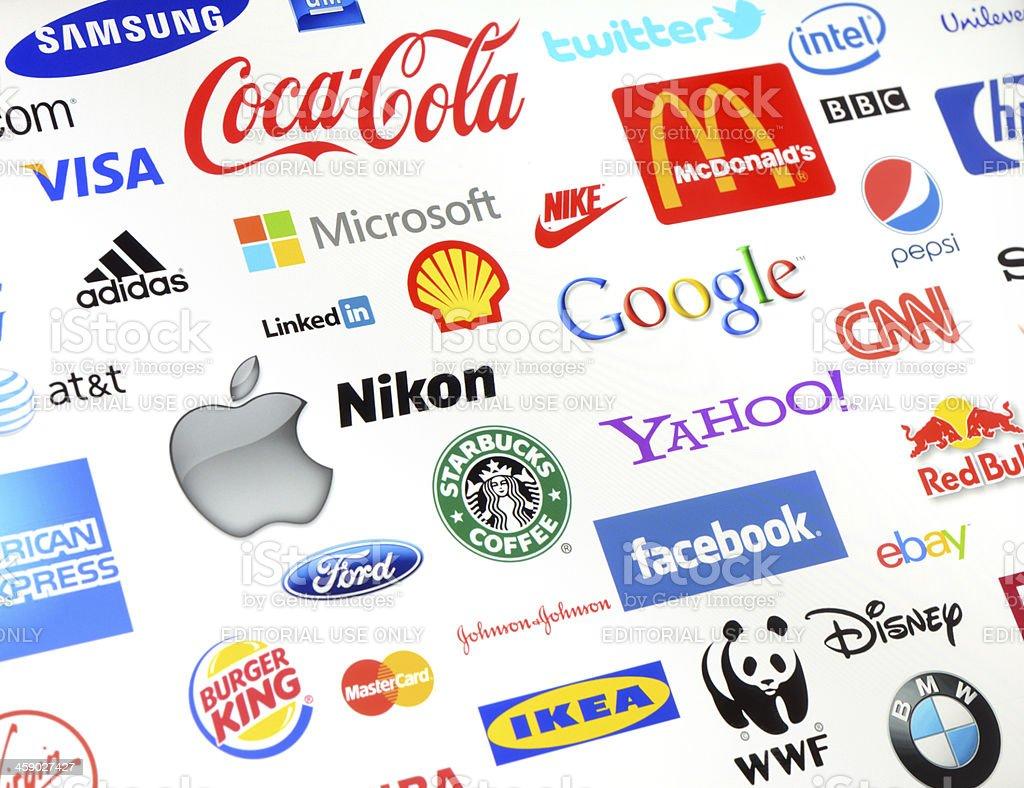 Brand logos stock photo