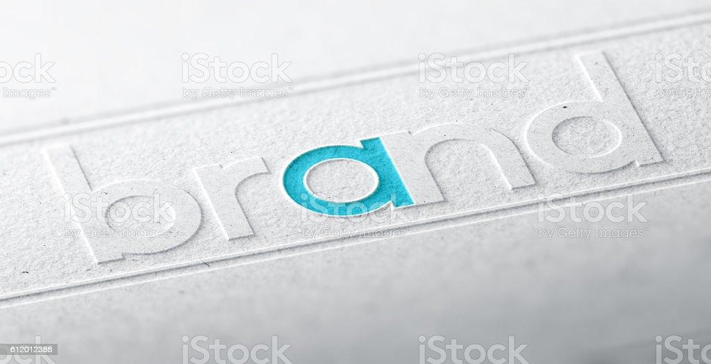 Brand Name, Company Identity stock photo