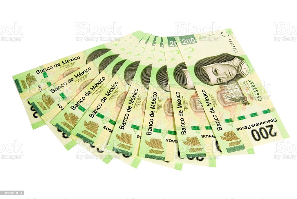 Brand new $200 mexican pesos stock photo