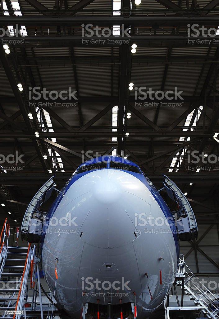 brand new airplane stock photo