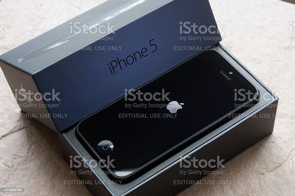 Brand New Apple iPhone 5 stock photo