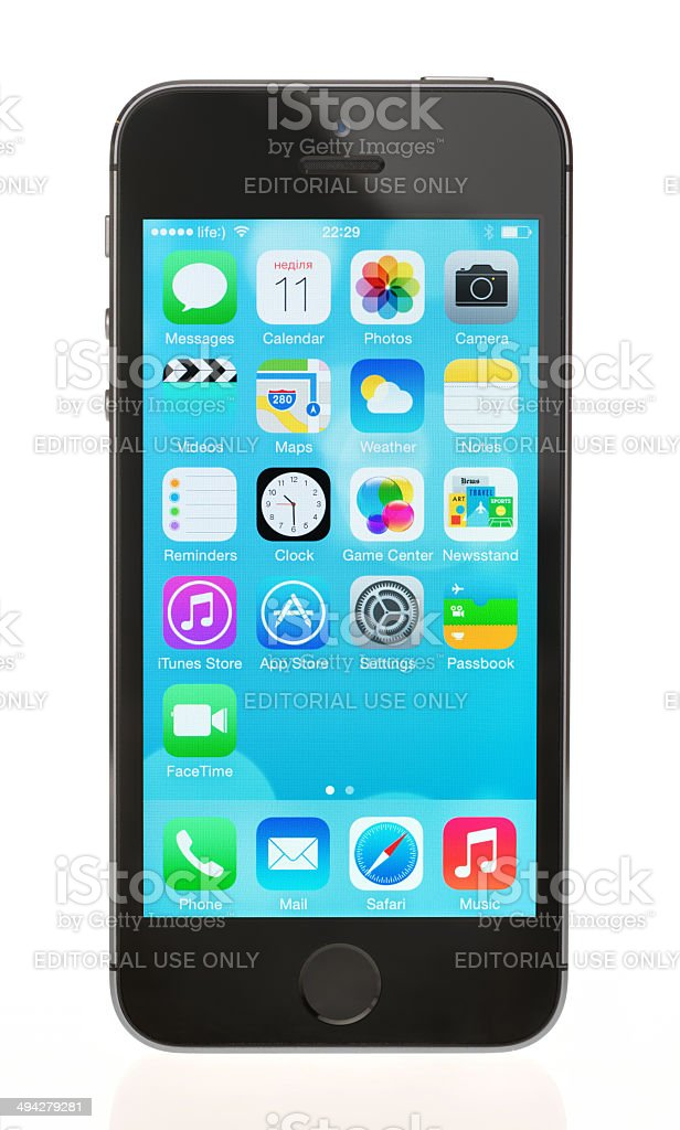 Brand new Apple iPhone 5S stock photo