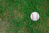brand new baseball on grass