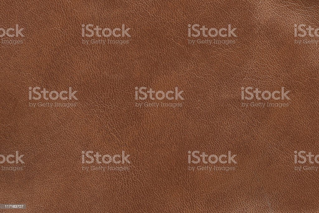 Brand new brown leather that looks smooth  stock photo