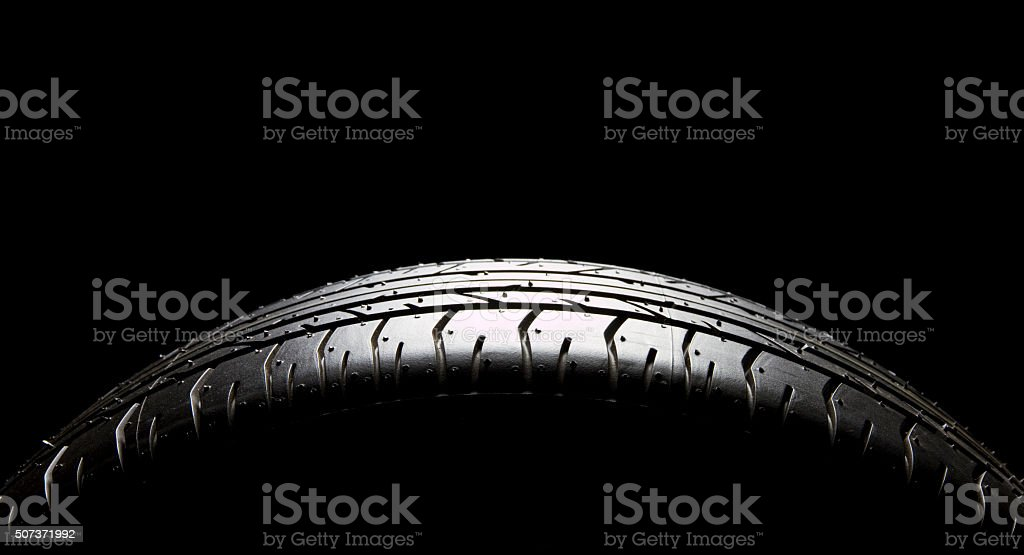 Brand new car tire stock photo