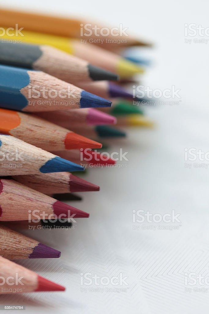 brand new colorpencils stock photo