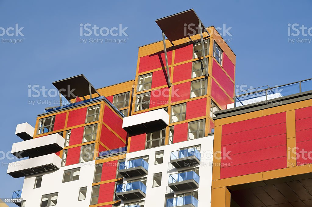 Brand new executive apartments. royalty-free stock photo