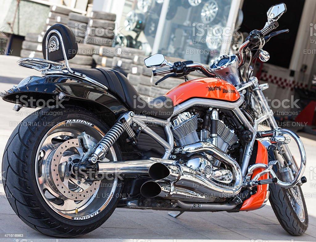 Brand new Harley Davidson stock photo