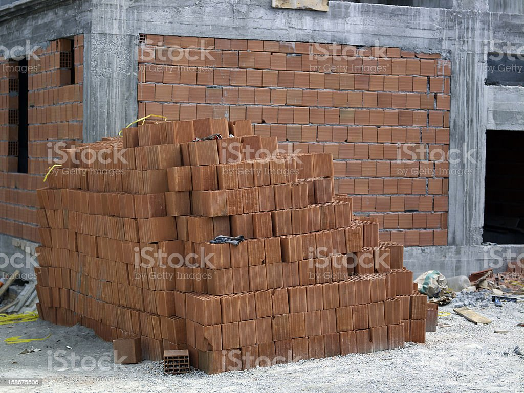 Brand new house in the making royalty-free stock photo