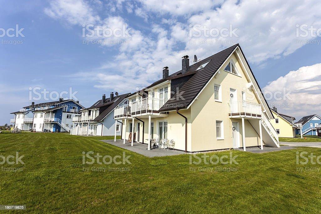 Brand new houses stock photo