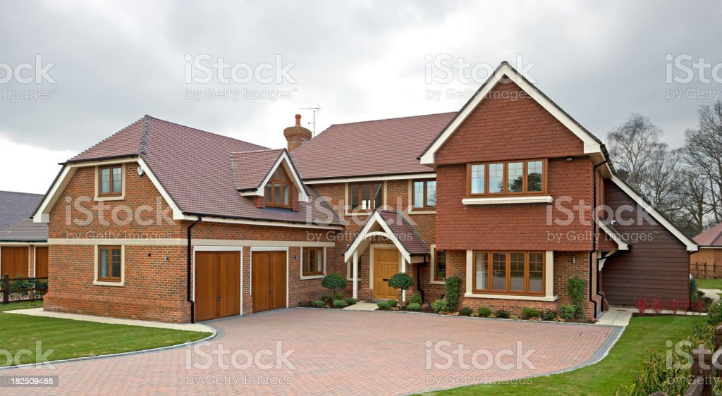 brand new luxury house royalty-free stock photo