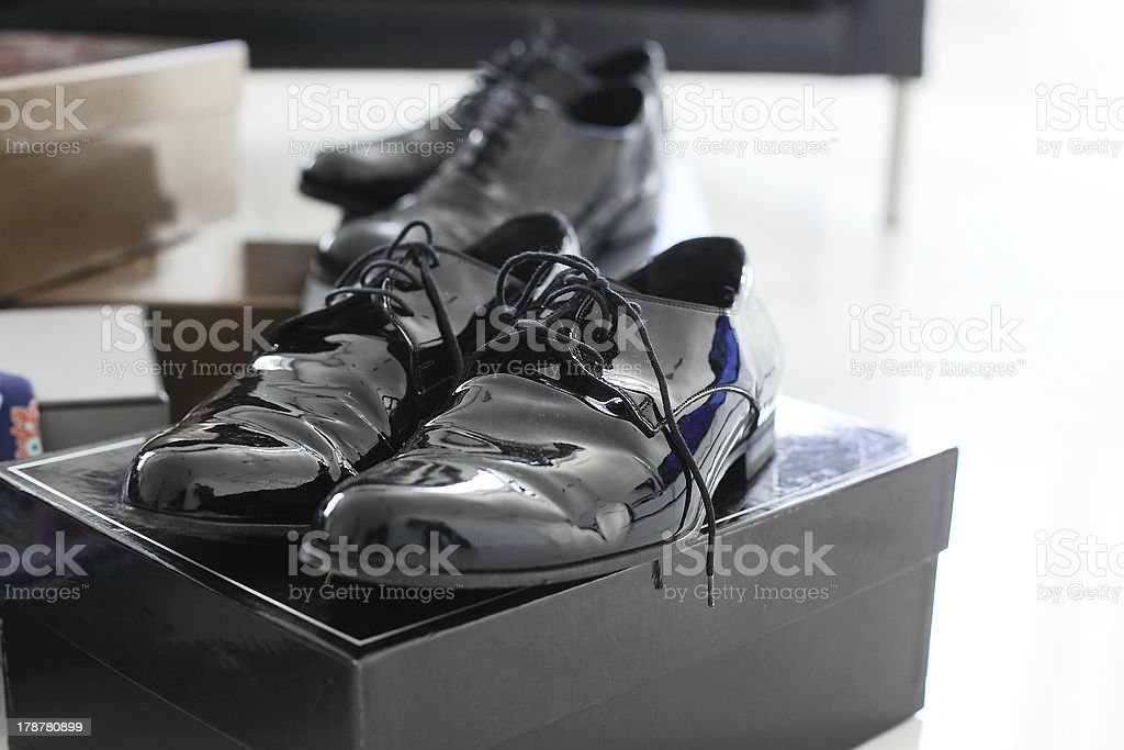 brand new mens shoes royalty-free stock photo