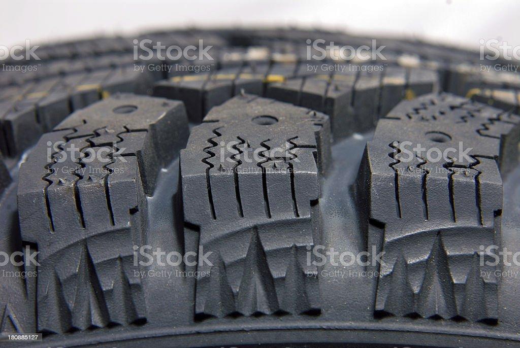 Brand new modern winter car tire royalty-free stock photo