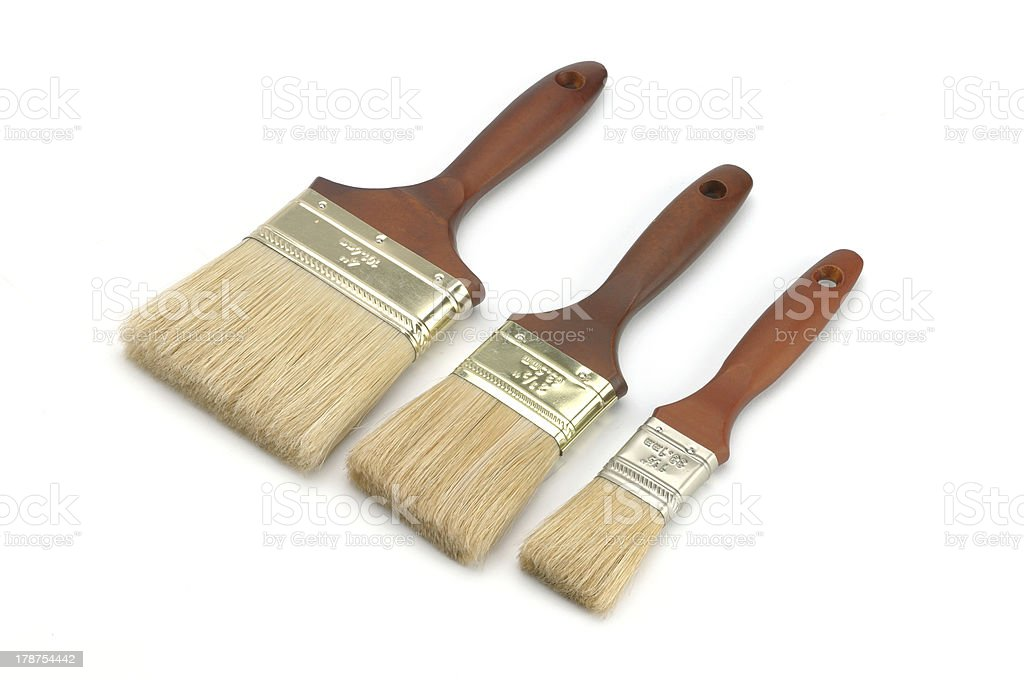 Brand new paint brush isolated on a white background royalty-free stock photo