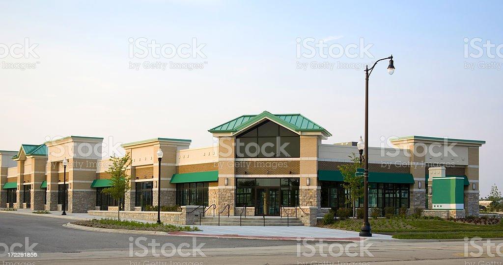 Brand New Strip Mall 2 stock photo